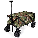Goplus Collapsible Folding Wagon Cart, Utility Garden Cart Collapsible Outdoor Trolley w/Push Bar for Shopping, Beach, Lawn, Sports - Best Reviews Guide