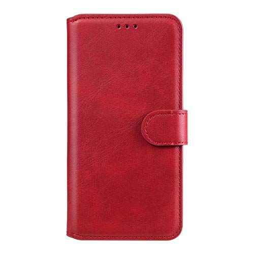 Hülle für Galaxy A51 5G Hülle Handyhülle [Standfunktion] [Kartenfach] Schutzhülle lederhülle klapphülle für Samsung Galaxy A51 5G - DEYY010186 Rot
