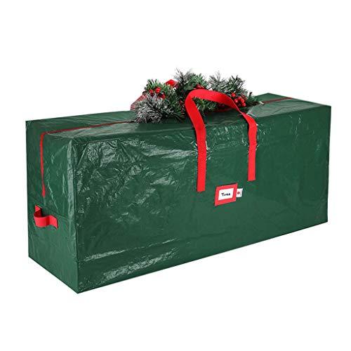 Ping Oxford Sac de rangement pour sapin de Noël artificiel avec 2 poignées renforcées et fermeture Éclair élégante - Bleu - l, Large
