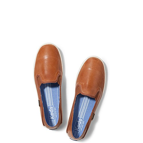 Keds Women's Crashback Leather Fashion Sneaker,Cognac Brown,7.5 M US