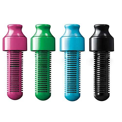 TTZY Bouteille de Filtre d'hydratation Bobble d'eau Portable Bouteille filtrée Bouteille de Sport en Plein air Filtre à Charbon Actif Remplacer la tête Kc1590, Bleu