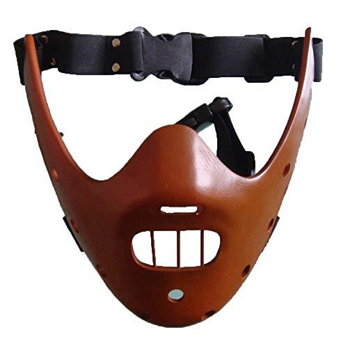 LXIANGP Halloween Maske Stille Lamm Hannibal Maske COS Requisiten Maskerade Terror Teufel Killer