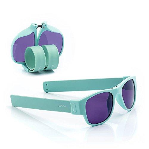 Sunfold Pastel Gafas de Sol Enrollables, Hombre, Turquesa, Talla Única