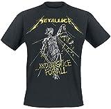 Metallica Herren and Justice for All Tracks_Men_bl_ts: M T-Shirt, Schwarz Black, Medium