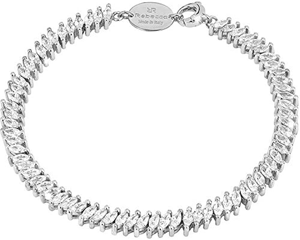 rebecca bracciale per donna in argento silver e swarovski sdibbb51