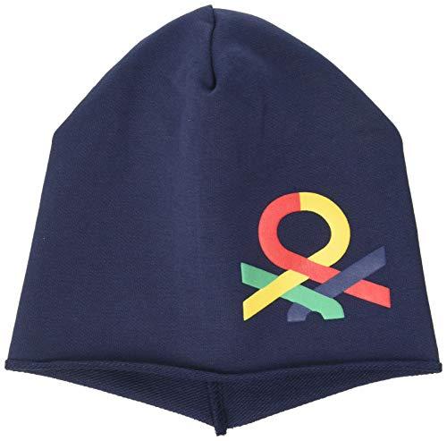United Colors of Benetton (Z6ERJ Cappello Juego de accesorios de invierno, Azul 901, 56 para Bebés