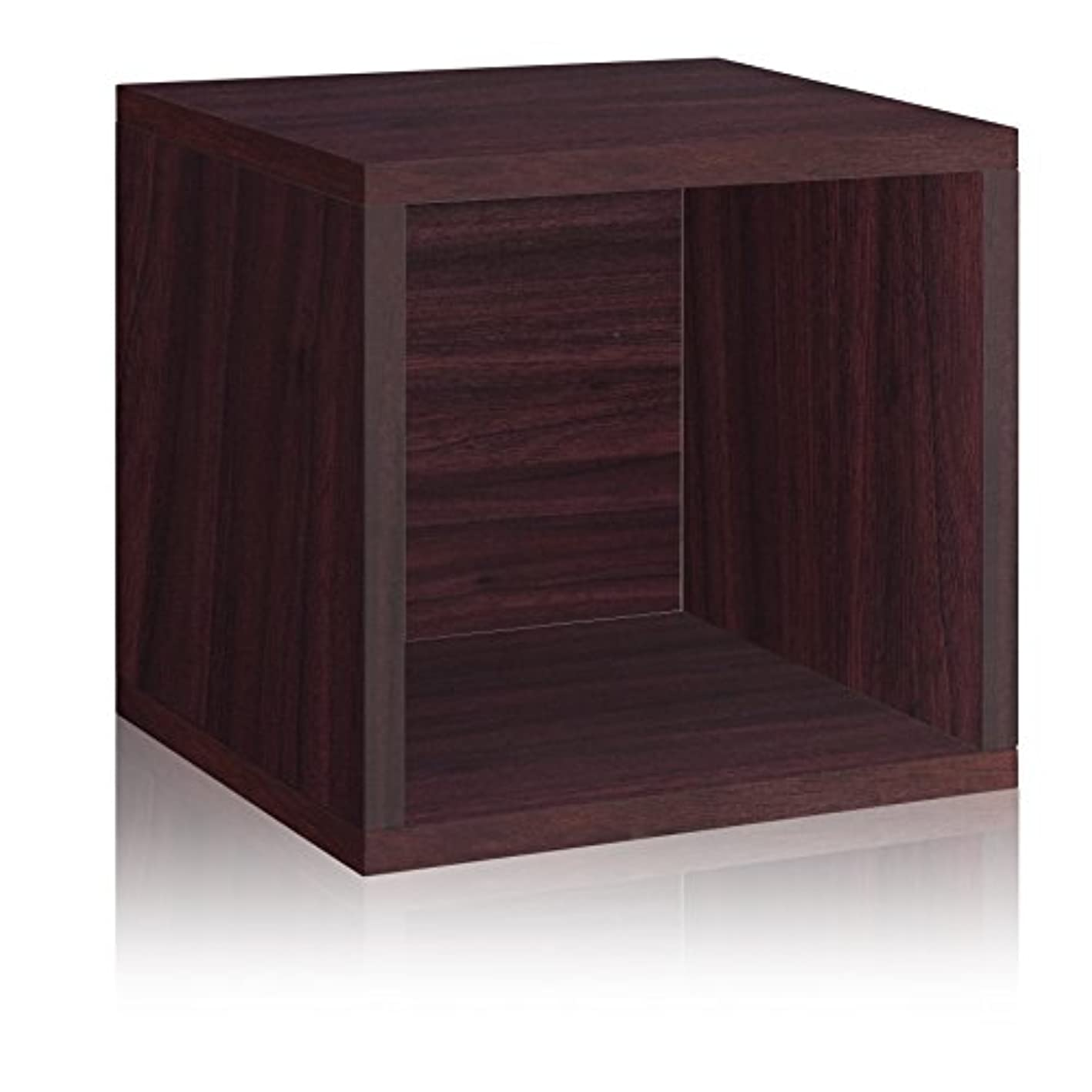 Way Basics 11.2 L x 13.4 W x 12.8 H Eco Stackable Storage Cube and Cubby Organizer, Espresso Wood Grain (Tool-Free Assembly and Uniquely Crafted from Sustainable Non Toxic zBoard paperboard)