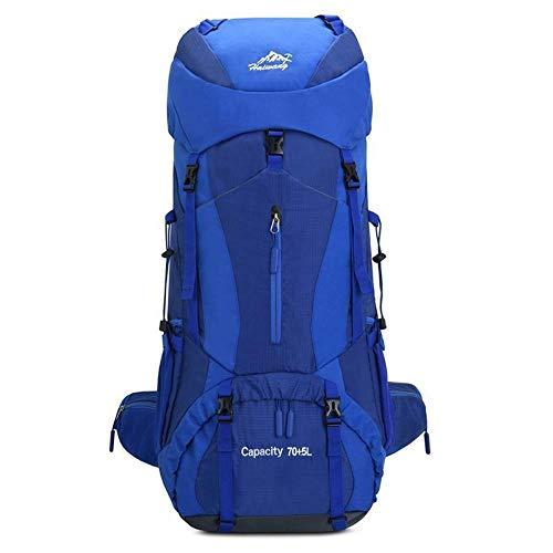 Topashe Ergonómica para Viajes Excursiones Acampadas Trekking,Impermeable Mochila de Marcha Trekking,Bolsa de Senderismo 70 + 5L, Bolsa de Camping de Gran Capacidad-Azul