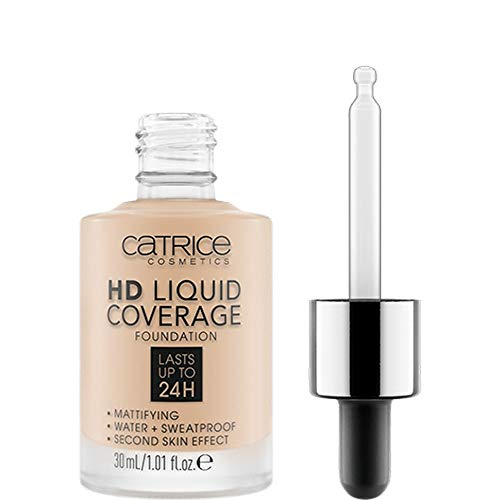 Catrice HD Liquid Coverage Foundation 010 Light Beige - 3er Pack