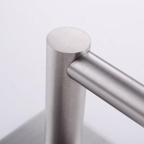 KES Self Adhesive 30-Inch Pan & Pot Rack with 10 Hooks SUS 304 Stainless Steel Sticky Kitchen Storage Organizer Bar Shelf Utensil Stick on Hanger Rustproof Wall Mount, Brushed Finish, KUR202S70-2