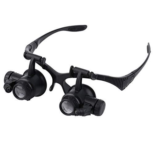 Heaviesk 1 stück 20x Lupe Vergrößerungsbrille Lupe Objektiv Juwelier Uhr Repair Tool juwelierlupe Freisprechbrille Brille Beine