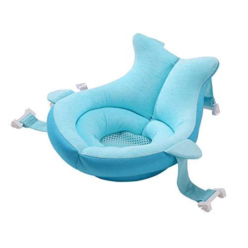 Yiyu Baby-Badekissen, rutschfeste Badematte Für Neugeborene, Bad-Sicherheitssitzkissen, Junge, Mädchen, Neutral (0-12 Monate) x (Color : Blue)