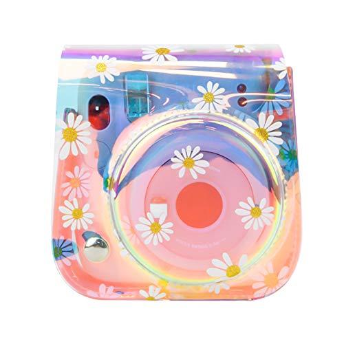 Yissone Funda de Cámara Daisy PU Cuero Llevar Bolso de Hombro Adecuado para Cámara Fujifilm Instax Mini 11/9/ 8