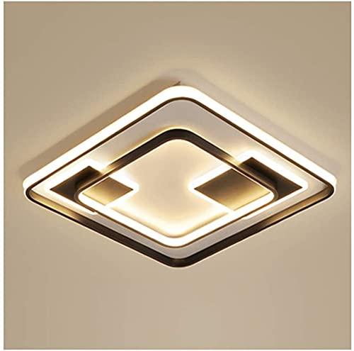 Luz de techo moderno simple LED Dimmable Metal acrílico Sala de estar Decoración Dormitorio Estudio Cocina Oficina Oficina Lámparas de techo Flush Mount (Color : Three-color Dimming-62 * 62cm/97w)