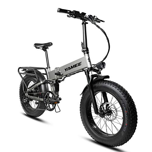 I·PAS Yamee 750W 500W Ebike 20'' Snow Tire Electric Bicycle Folding 48V 14.5AH 11.6AH Samsung Lithium Battery Adult Bike 4.0'' All Terrain Fat Tires Off Road Mountain Bikes Snow Tire