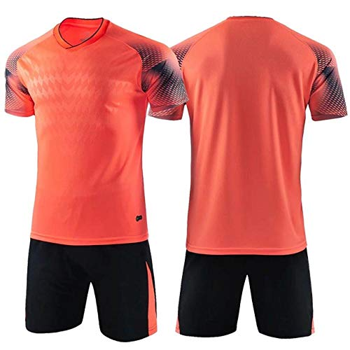 Bmstjk - Pantalones cortos de tenis para niños, camisetas de fútbol, conjuntos de ropa de fútbol de manga corta para niños, uniformes de fútbol Multicolor multicolor 4XS