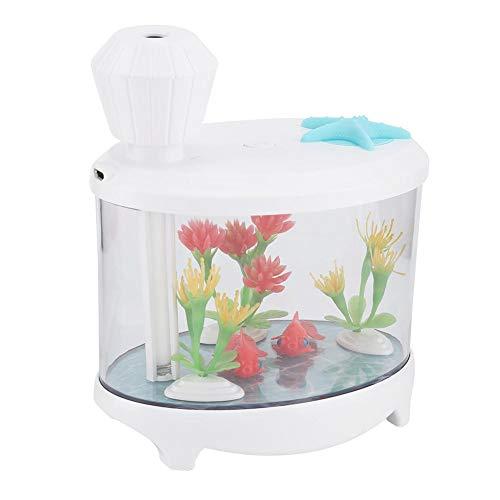 Aquarium Micro Landscape Mini USB Luchtbevochtiger Home Office Luchtreiniger met gesimuleerd systeem Micro Landscape Design (wit)