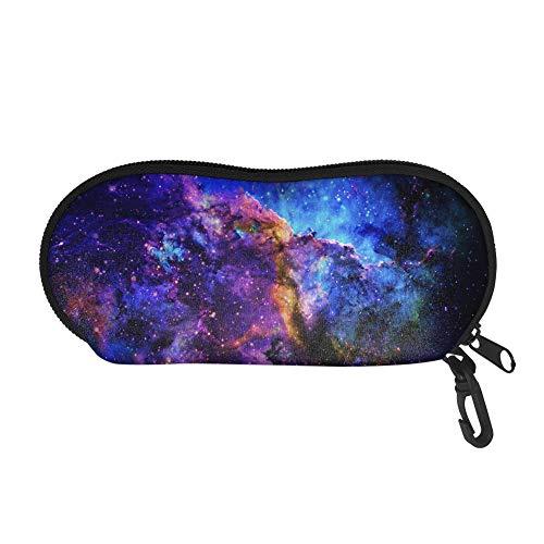 TOADDMOS Blue Galaxy Sky - Funda para gafas de sol, portátil, suave, antiarañazos, con mosquetón, para mujeres y hombres