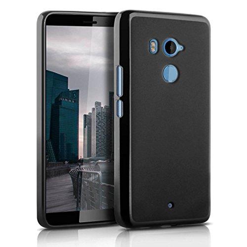 United Case Coque Slim Noir pour HTC U11+ Plus | Poids léger Silicone Cover