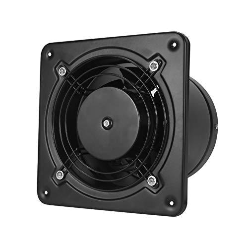 Hon&Guan 150mm Badlüfter Schwarz - Metall Rohrventilator Abluftventilator für Dachboden, Garage, Badezimmer, Garage