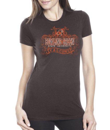 NCAA Bowling Green Falcons Damen Prius2 Long Body Classic T-Shirt, Damen, Schokoladenbraun, Large