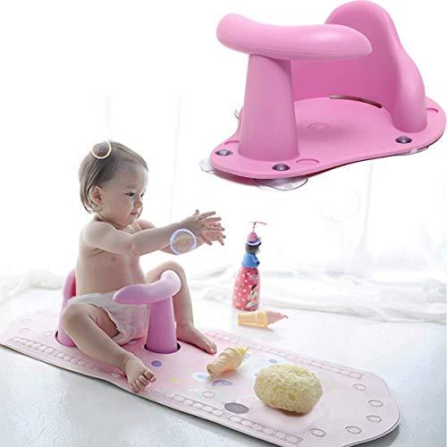 Lovely Juguetes recién nacidos BABY BAÑO PAD MAT Silla Tina de seguridad Seguridad de seguridad Bañera infantil Anti resbalón Cuidado de bebé Asiento de baño Lavado de juguetes para niños (Color: Rosa