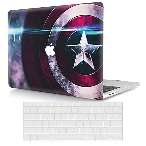 ACJYX Compatible with MacBook Air 13 inch Case 2020 2019 2018 Release A2337 M1 A2179 A1932 Retina Display with Touch ID, Protective Plastic Hard Shell Case & Keyboard Skin, Super Hero