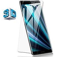 Sony Xperia XZ3 ガラスフィルム Sony エクスペリア XZ3 SO-01G SOL26 401SO フィルム 専用 3D曲面 フルカバー フィルム 液晶保護フィルム 全面保護 極高透過率 強化ガラス