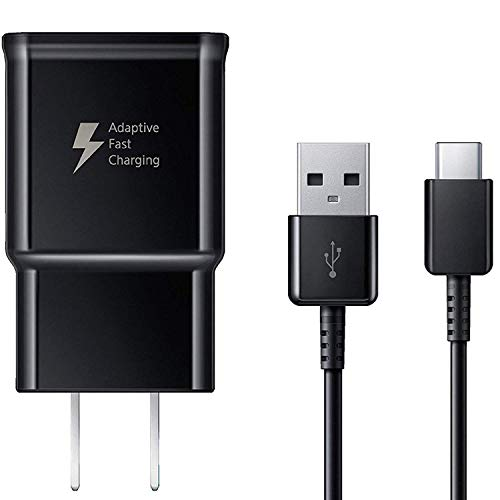 Samsung Adaptive Fast Charger + USB-C Cable for Galaxy S9 S9 Plus S8 S8+ Note 8 - EP-TA20JBEUGUS