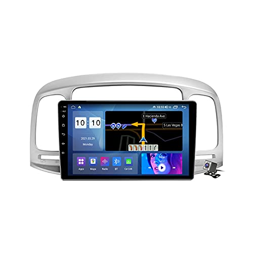 Gokiu Android 11 Radio estéreo para Coche con 9 Pulgadas Pantalla Táctil para Hyundai Accent 3 2006-2011 Soporta Bluetooth FM RDS Radio/Navegacion GPS/Carpaly (Cámara de Respaldo),M600s