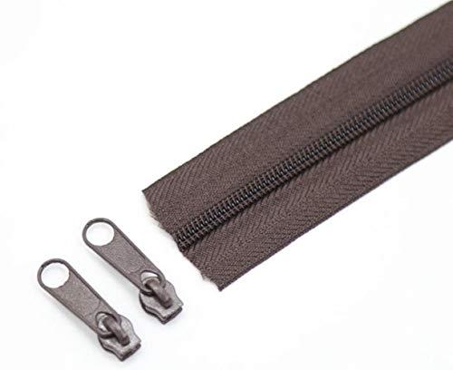1 M 5 M 10 M 20 M 25 metros/lote cremalleras de bobina de nailon 24 colores para la selección 3# cremalleras largas para accesorios de costura DIY