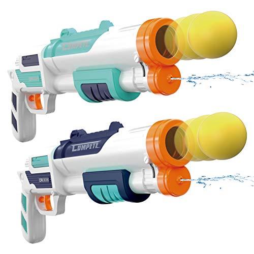 JOYIN 2 in 1 Water Gun Blaster Shotgun and Foam Ball Popper Gun Toy, Foam Ball Popper Air Toy Guns...
