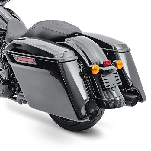 Seitenkoffer Stretched für Harley Davidson Street Glide (FLHX) 14-21 Latch Black