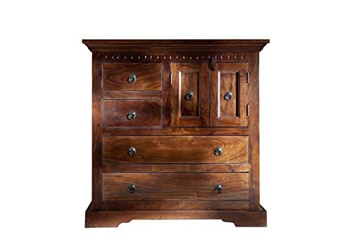 MOBILI COLONIALI CASSETTIERA Acacia in legno massello OXFORD #446