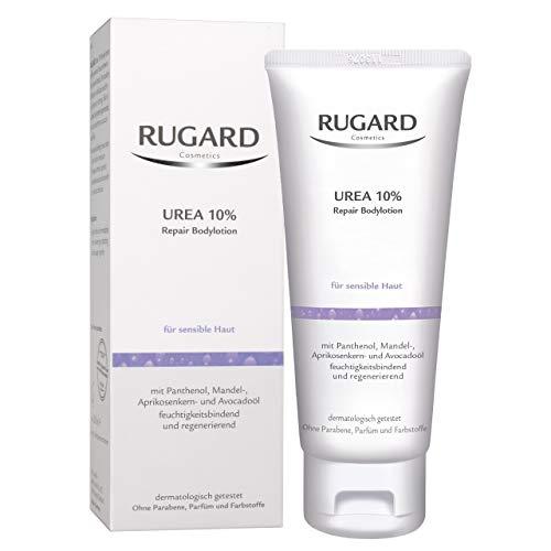 RUGARD Urea 10{ab10775cf83312003a9b7d223c5346fc4c5e8d0a5ea0ce01623466066a41551d} Repair Bodylotion: Intensiv pflegende Körperlotion mit Urea für sensible Haut, 200ml