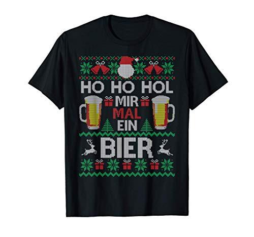 Ho Ho Hol Mir Mal Ein Bier I Lustiger Ugly Christmas T-Shirt