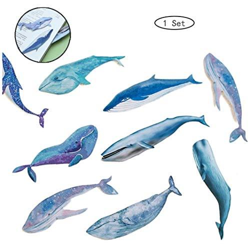 1 Wal Fisch-spiel Papierware Lesezeichen Favoriten Buchablage Schulbedarf Postkarte Papelaria