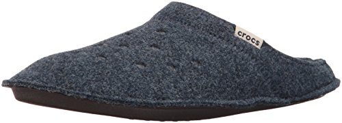 Crocs Classic Slipper, Zapatillas de Estar por casa Unisex Adulto, Azul (Nautical Navy/Oatmeal), 38/39 EU