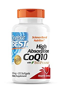 Doctor s Best High Absorption CoQ10 with BioPerine Gluten Free Naturally Fermented Heart Health Energy Production 100 mg 120 Count