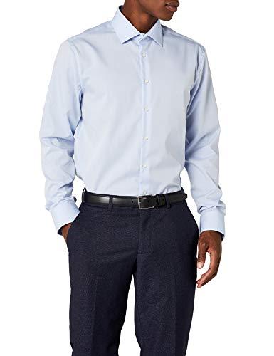 Seidensticker Herren Kent Shaped Fit Business Hemd, Blau (Hellblau 15), 43