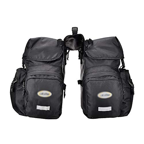 Best Buy! Bike Panniers Rack Trunks Bicycle Rear Seat Luggage Bag, 50L Large Capacity, Two-in-one Cy...