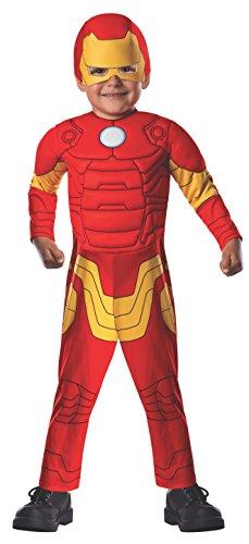 Rubie's Costume Iron Man Deluxe Avengers per Bambino (620015-T), Multicolore, 1-2años