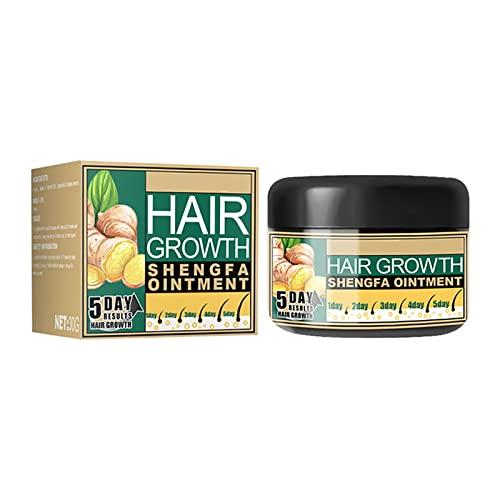 Ginger Hair Growth Cream,1/2Pcs Moisturizing Scalp Massage Hair Follicle Hair Care,Men Women Regrowth Repair Ointment,Hair Regrowth Serum For Thinning Hair (1pcs)