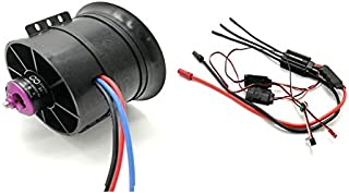 Powerfun EDF 90mm 12 Blades Ducted Fan with RC Brushless Motor 1450KV with ESC 120A(5~8S) Balance Tested for EDF 6S RC Jet Airplane