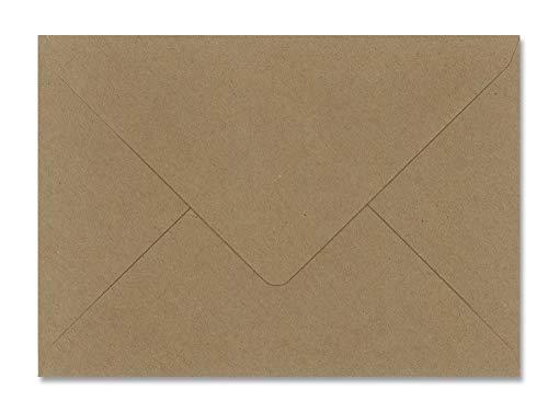 sobres KRAFT boda - varios tamaños (22,9x16,2cm SOLAPA PICO C5) 25 und