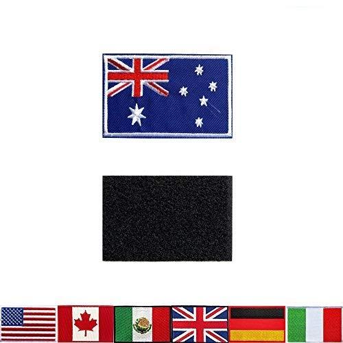 Taktische Aufnäher, bestickt, australische Flagge, für Rucksäcke, Jacken, Hosen, Patch, bestickte Armbänder der Militär-Armee-Uniform, perfekte Dekoration, 2 Stück