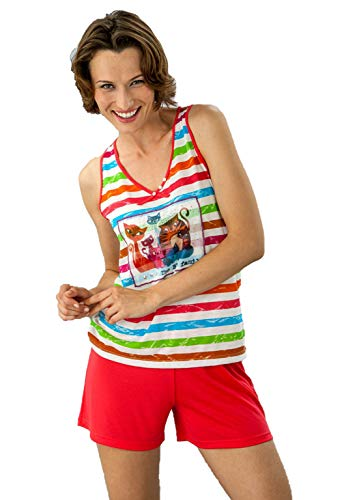MASSANA - Pijama Mujer Tirantes Verano - Fucsia, M