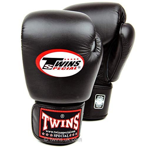 8 10 12 14 Oz Twins Guanti Kick Boxing Gloves Cuoio Sanda Sandbag Formazione Nero Guantoni da Boxe Donne degli Uomini Guanti Muay Thai Zzib (Color : Twins Black, Size : 14OZ)