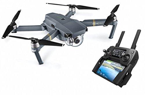 DJI Mavic Pro - Dron cuadricóptero (4 k/30 fps, 12mpx, 65 km/h, 27 minutos) color negro