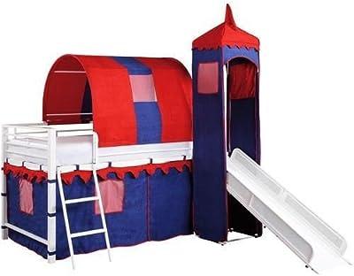 Amazon Com Dhp Junior Twin Metal Loft Bed With Slide